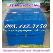 Thùng giao hàng nhựa composite loại max