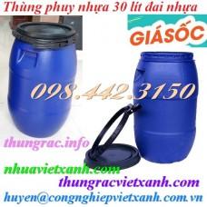 Thùng phuy nhựa 30 lít