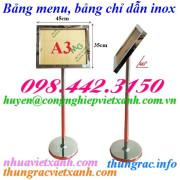 Bảng menu - bảng chỉ dẩn A3 inox