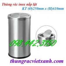 Thùng rác inox nắp lật IN08