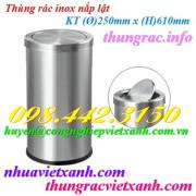 Thùng rác inox nắp lật 250x610mm
