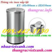 Thùng rác inox nắp lật 480x830mm