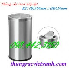 Thùng rác inox nắp lật IN09