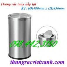 Thùng rác inox nắp lật IN10