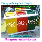 Thùng phân loại rác 3 ngăn