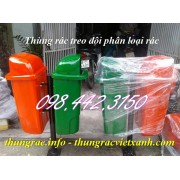 Thùng rác treo 2 ngăn - phân loại rác