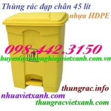 Thùng rác đạp chân 45 lít nhựa HDPE
