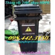 Thùng rác 240 Lít VX240Đ - chất thải độc hại