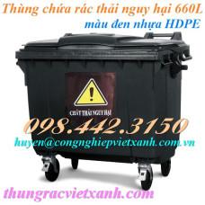 Thùng rác 660 Lít VX660Đ - chất thải độc hại