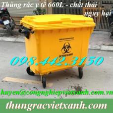 Thùng rác y tế 660 Lít VX660V - chất thải nguy hại