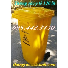 Thùng rác y tế 120 Lít VX120V - chất thải nguy hại