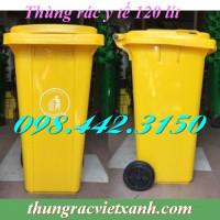 Thùng rác y tế 240 Lít VX120V - chất thải nguy hại