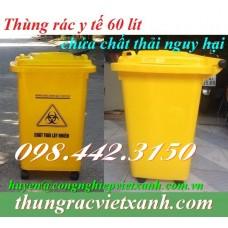 Thùng rác y tế 60 Lít - chất thải nguy hại