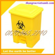 Thùng rác y tế đạp chân 15L - chất thải nguy hại