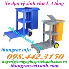 Xe dọn vệ sinh 3 tầng chữ L