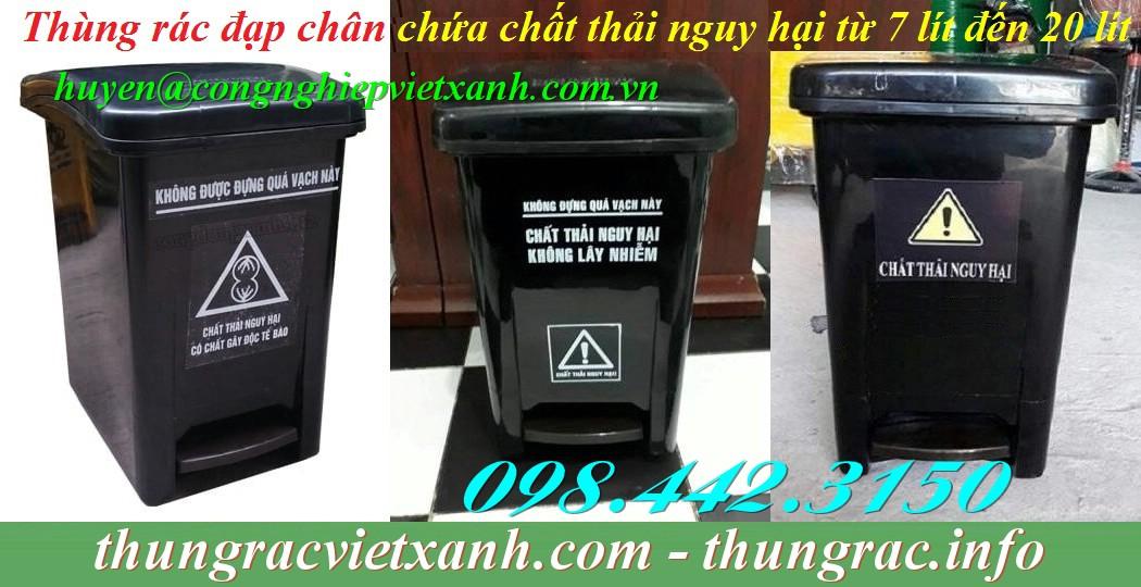 Thùng rác đạp chân chất thải nguy hại