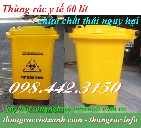 Thùng rác y tế 60 lít chứa chất thải nguy hại