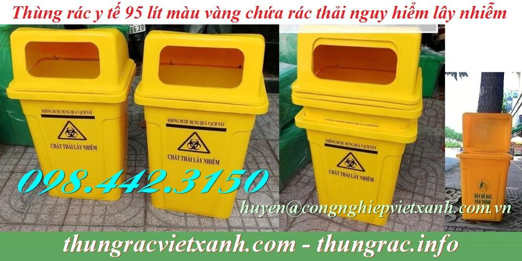 Thùng rác y tế 95 lít chứa chất thải nguy hại