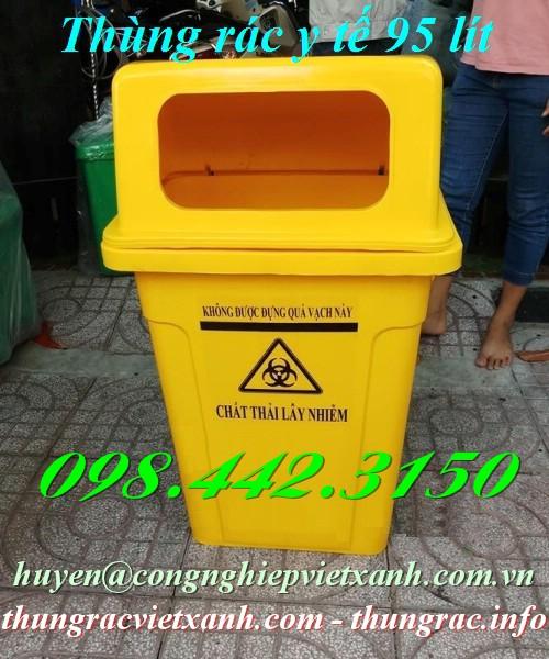 Thùng rác y tế 95 lít